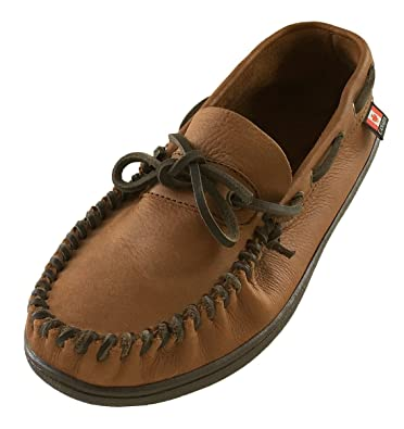 6ff4837f435 Wakonsun Men s Wide Width Brown Genuine Leather Loafer Moccasin Shoes ...