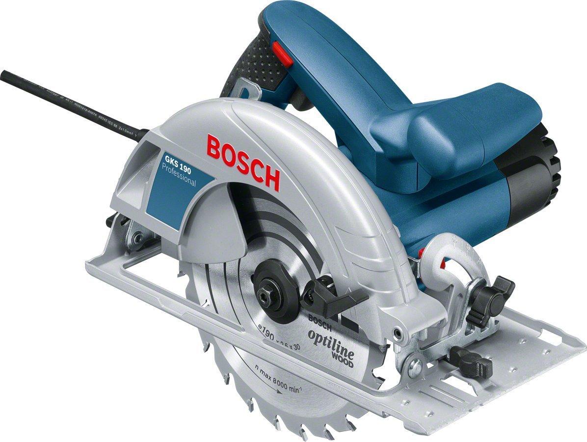 Bosch Professional GKS 190 - Sierra circular (1400 W, Ø Disco 190 mm,