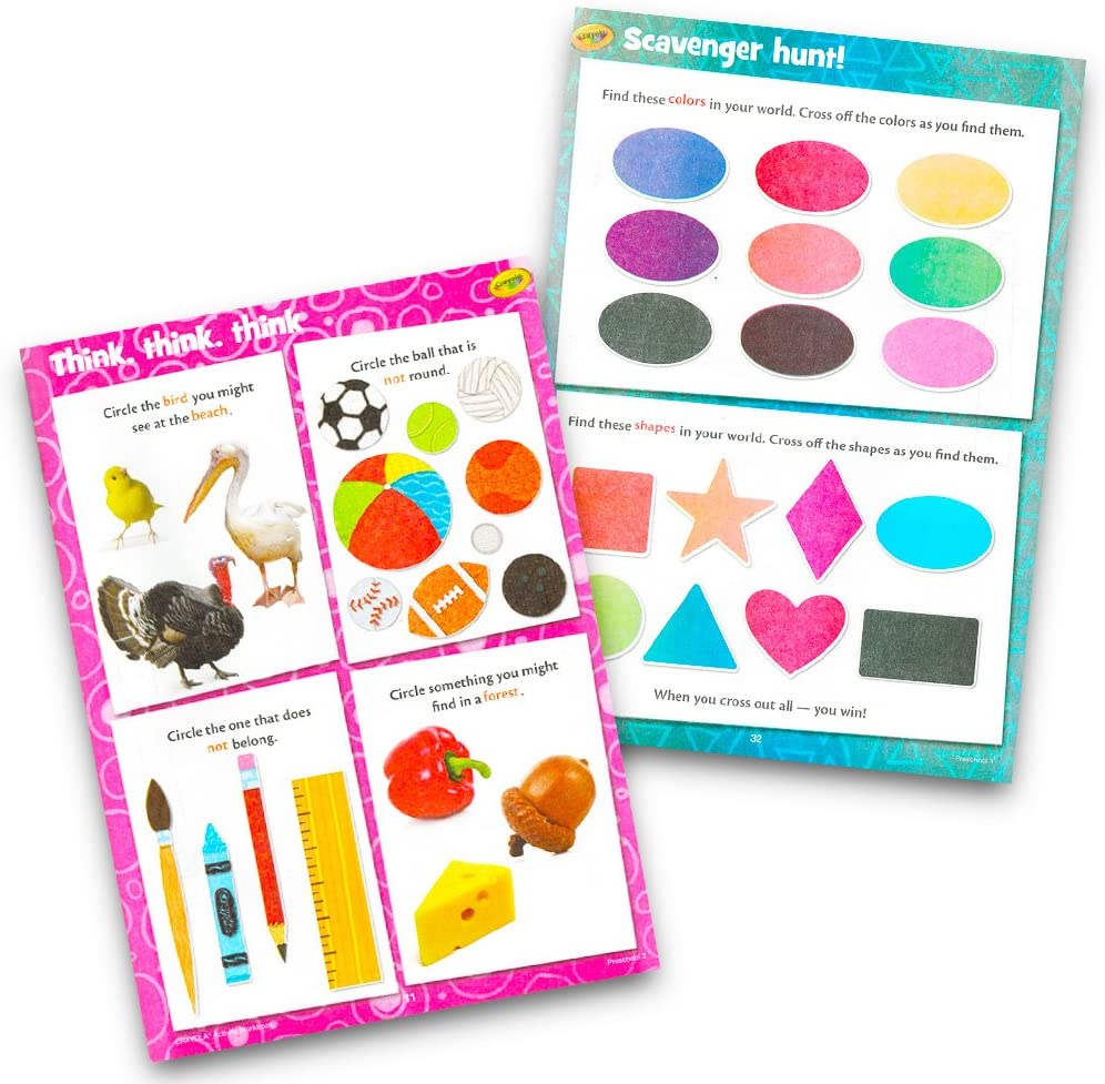 Preschool Workbooks and Flashcards for Toddlers Kids Set 2-4 Years Alphabet, Counting, Colors, Shapes and More 2 Toddler Flashcards Decks and 4 Workbooks for Preschoolers with Reward Stickers