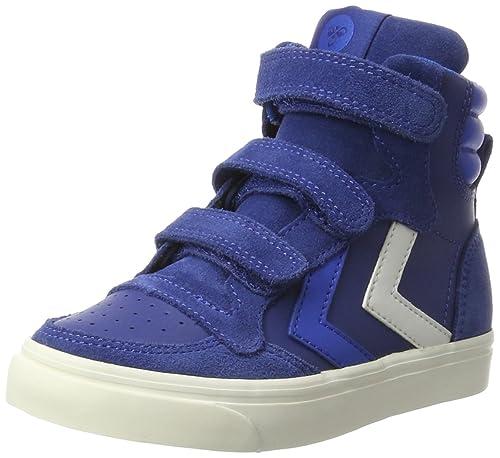 hummel Stadil Leather Jr, Zapatillas Altas Unisex Niños, Azul (Limoges Blue), 28 EU: Amazon.es: Zapatos y complementos
