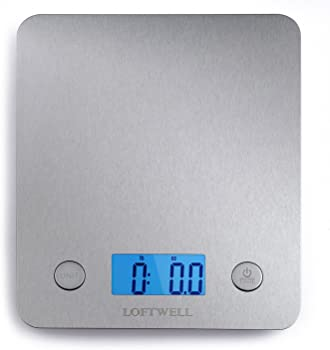 Loftwell 11lb Digital Stainless Multifunction Kitchen Food Scale