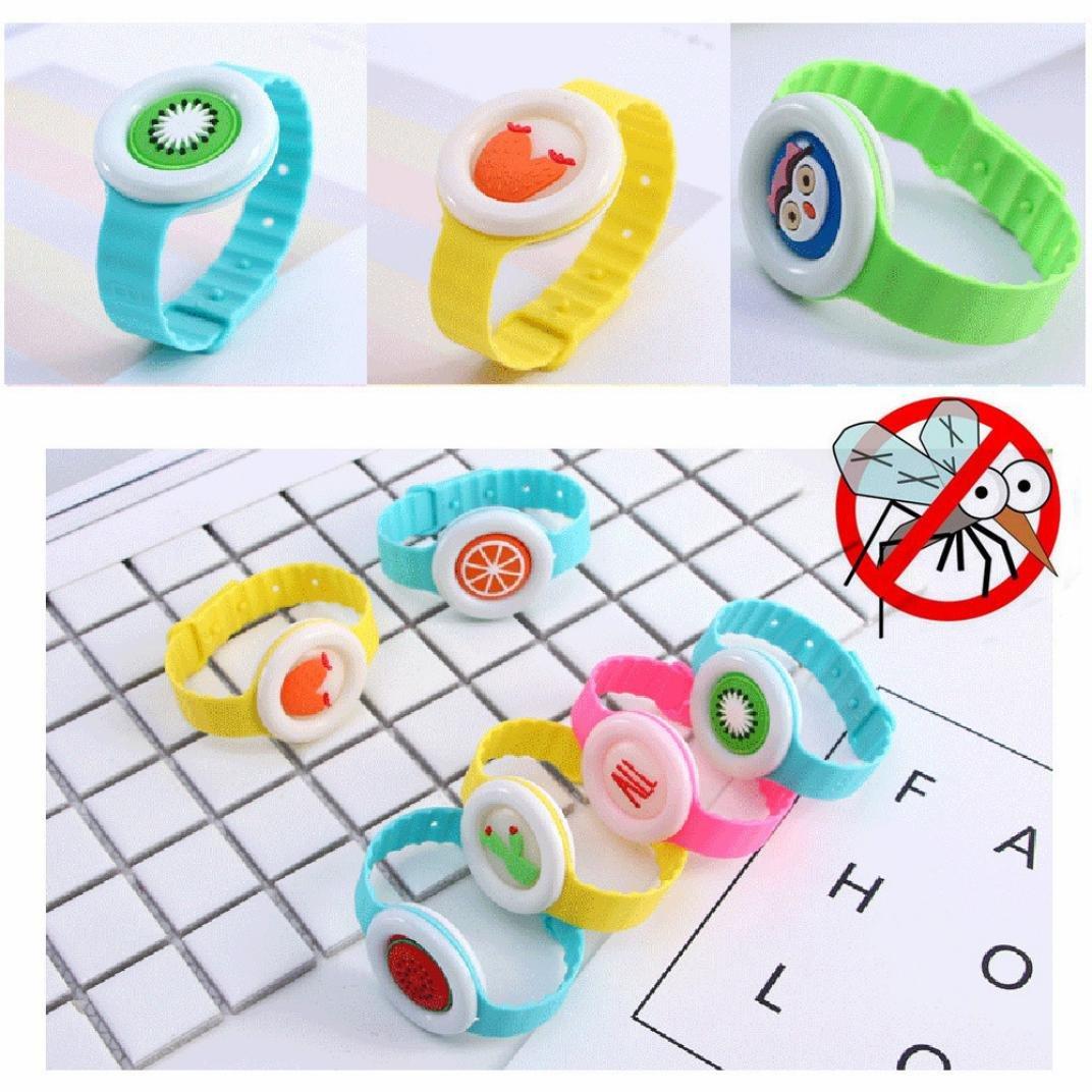 Wokee Moskito Moskito Anti M/ücken Armband M/ückenarmband,Repellent Button Baby Kinder Schnalle Outdoor Anti-M/ückenschutz
