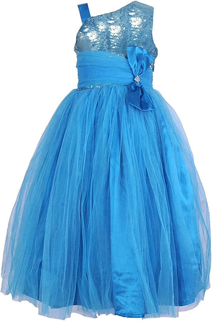 Samsara Couture Baby Girl Net Satin Birthday Gown Frozen Princess Dress Girls' Dresses & Jumpsuits at amazon