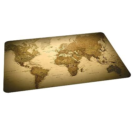 Amazoncom ES Robbins Trendsetter Rectangle World Map Printed - 36 x 48 world map