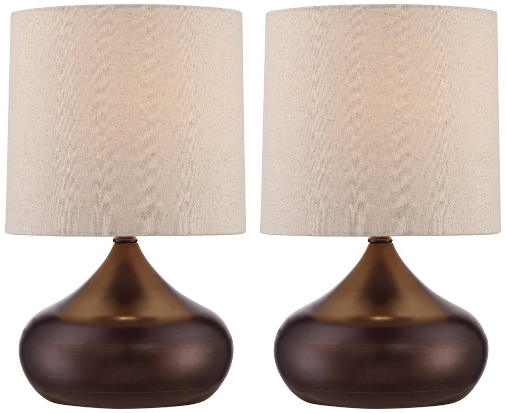 Set of 2 steel droplet 14 34h brown small accent lamps set of 2 steel droplet 14 34h brown small accent lamps amazon geotapseo Choice Image