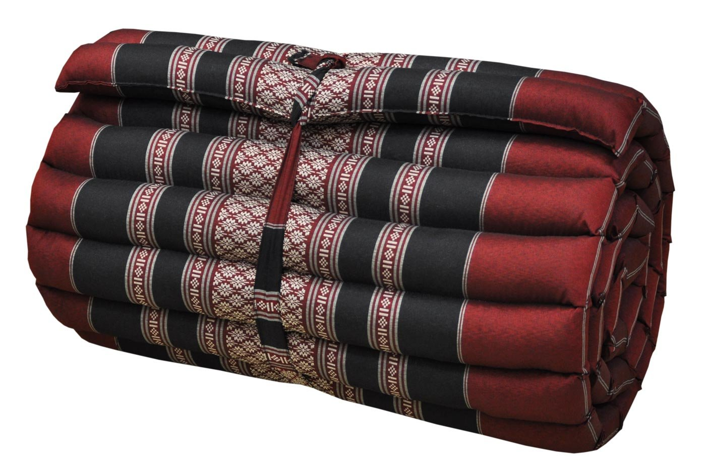 Thai Mattress Roll Up, 21.65 * 63 * 3inch, Kapok, Red, Black by Thai Mattress