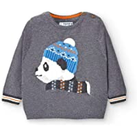 Mayoral Jersey Oso Panda Bebe Niño Cemento