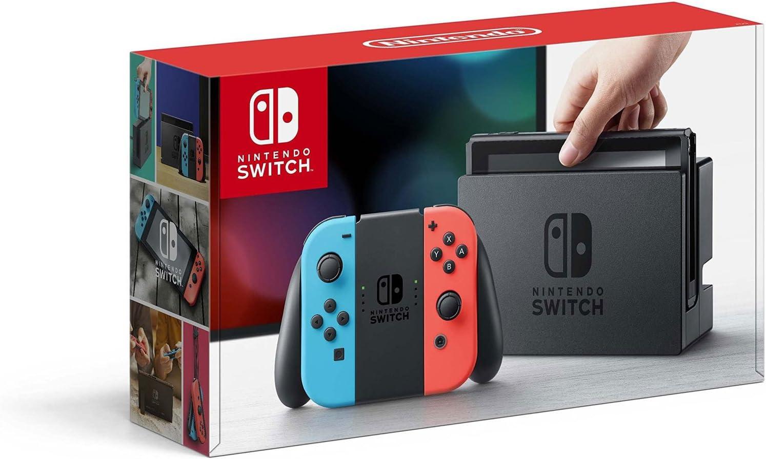 Nintendo Switch with Neon Blue and Neon Red Joy-Con(Versión EE.UU ...