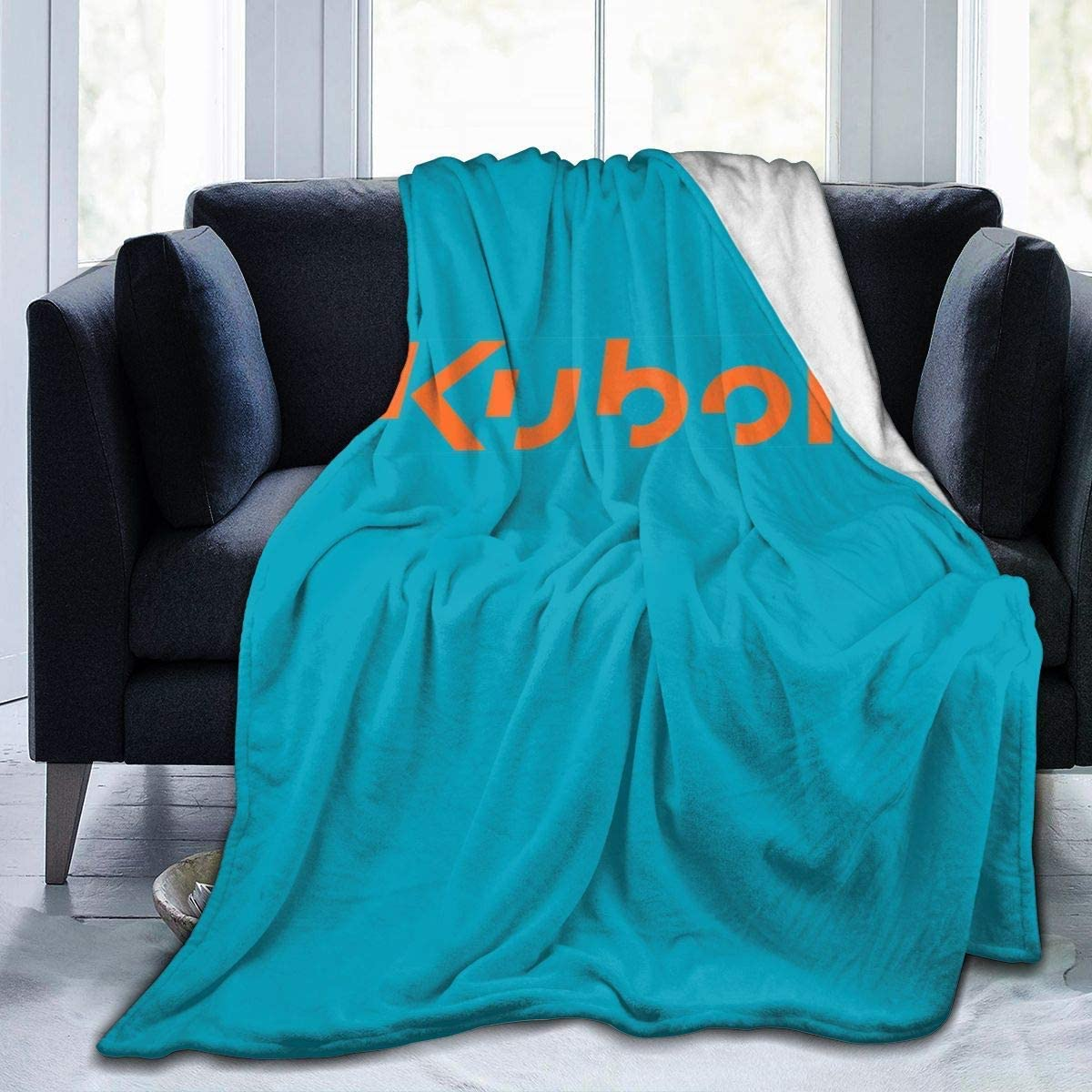 Engshi Mantas para Cama Kubota Tractor Orange Logo Soft and Warm Throw Blanket Digital Printed Ultra-Soft Micro Fleece Blanket