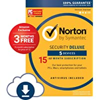 Amazon.com deals on Symantec Norton Security Deluxe 5 Device 15 Month Sub