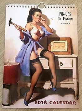 42e571fa4b0 Gil Elvgren Wall Calendar 2018 Pin Up Glam Sexy Girl Retro Vintage A4 Edit  3: Amazon.ca: Office Products