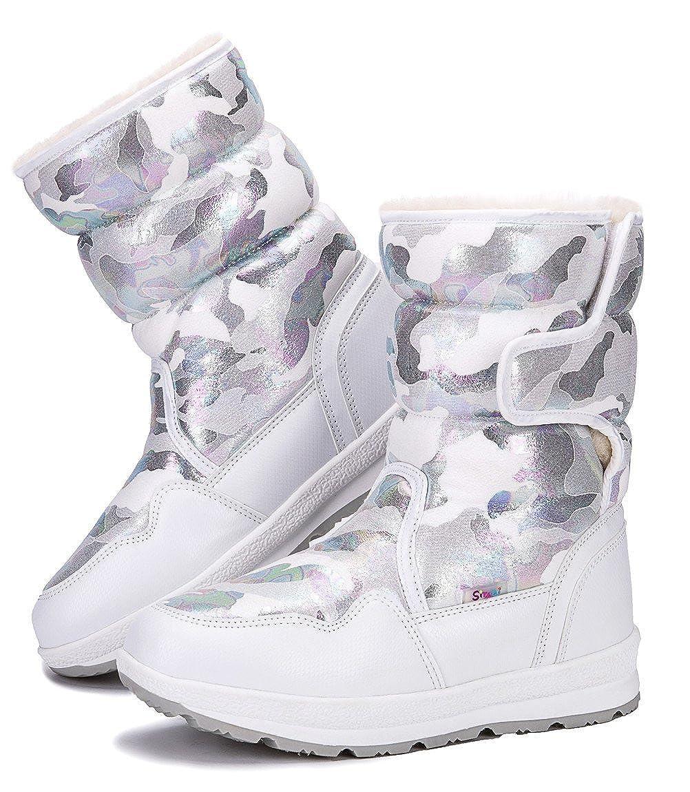 Toddler//Little Kid//Big Kid DADAWEN Girls Boys Waterproof Outdoor Cold Weather Snow Boots