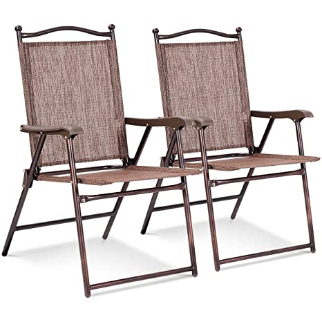 Sensational Amazon Com Set Of 2 Patio Folding Sling Back Camping Deck Gmtry Best Dining Table And Chair Ideas Images Gmtryco