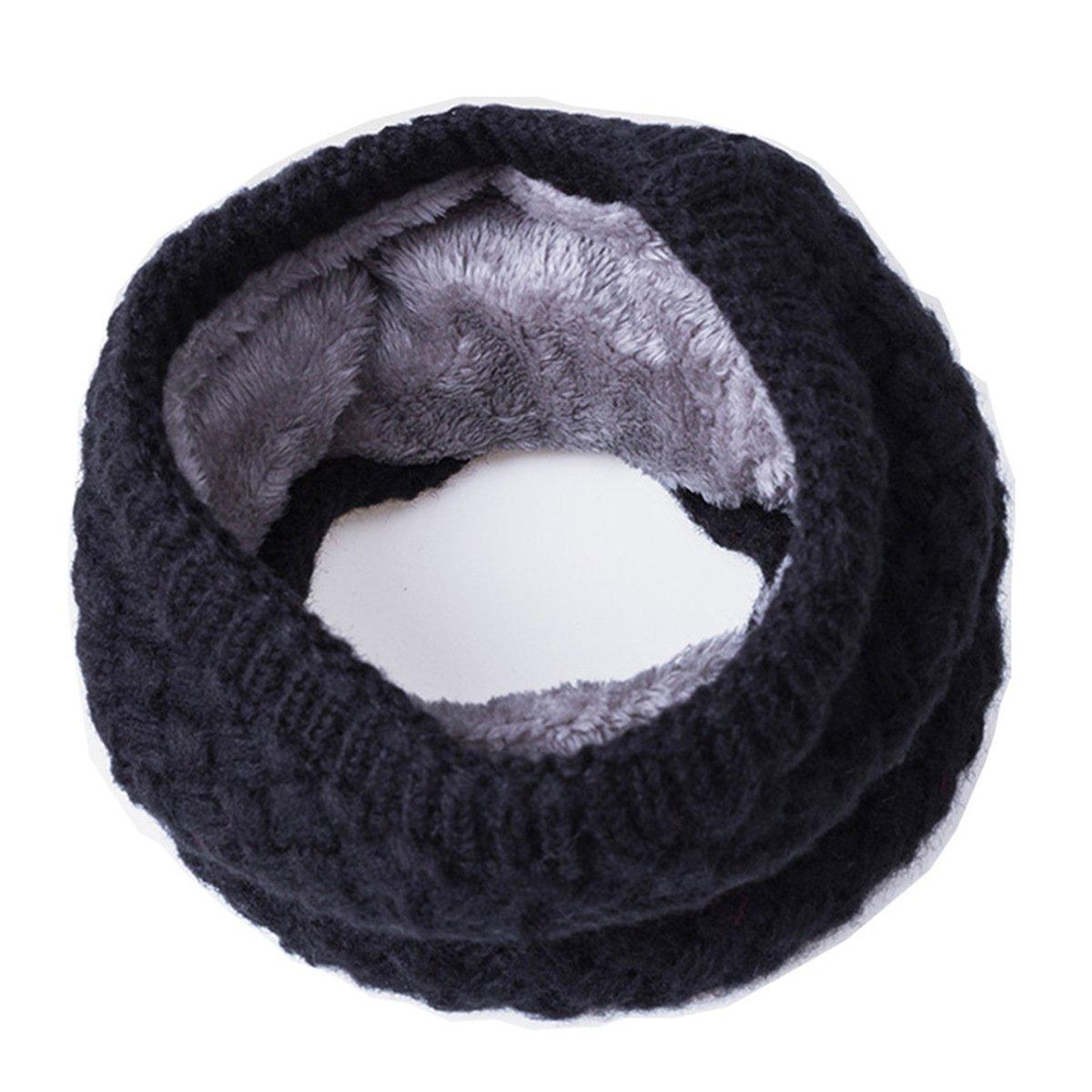 Children Winter Warm Scarf Thickened Wool Collar Scarves Neckerchief,Black