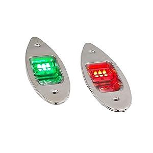 Five Oceans Stainless Steel Flush Mount LED Navigation Side Lights, 12V FO-3840