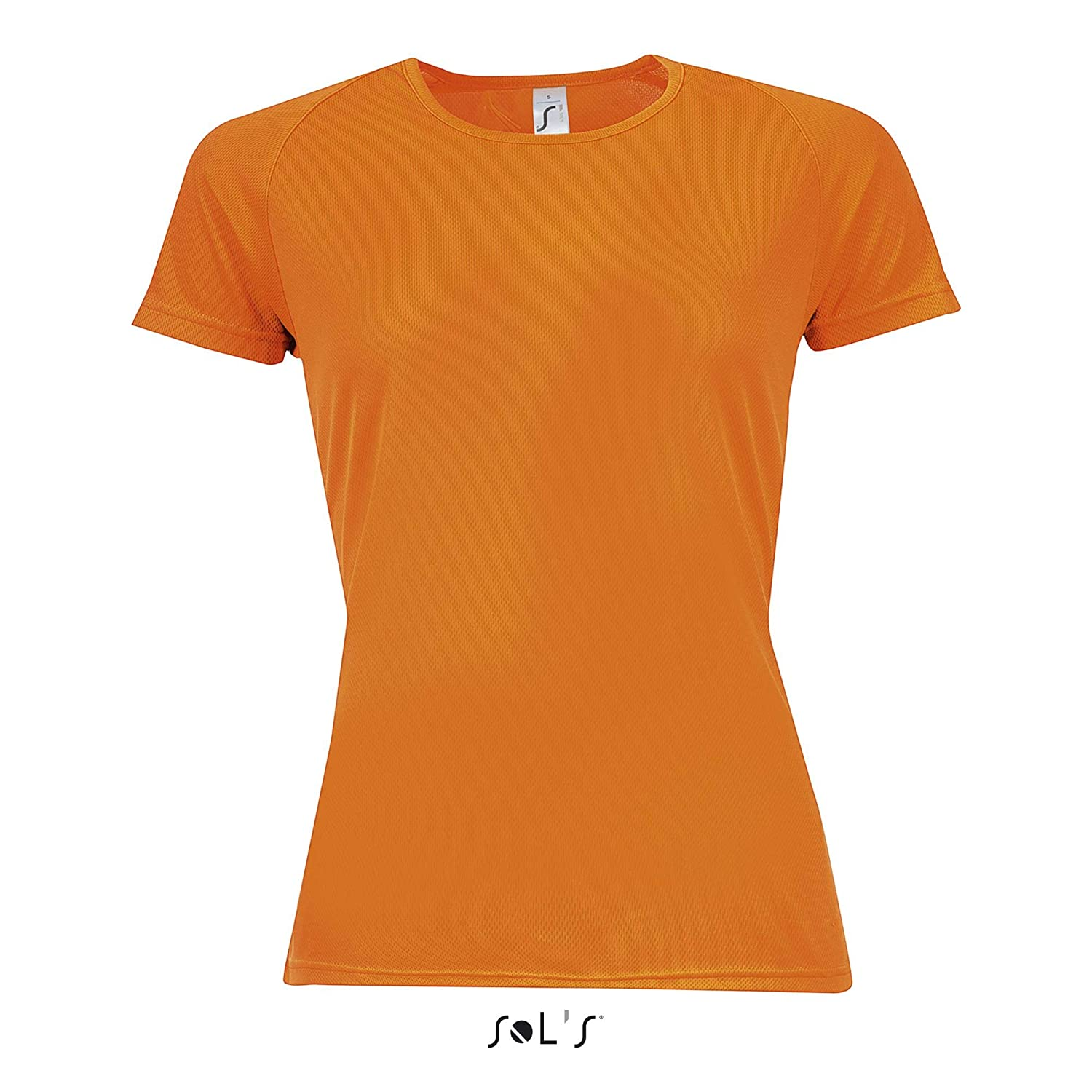 Anti-Transpirant Tee Shirt Sport Femme Sol/'S Sporty Technologie Dry fit Manches Courtes raglantes