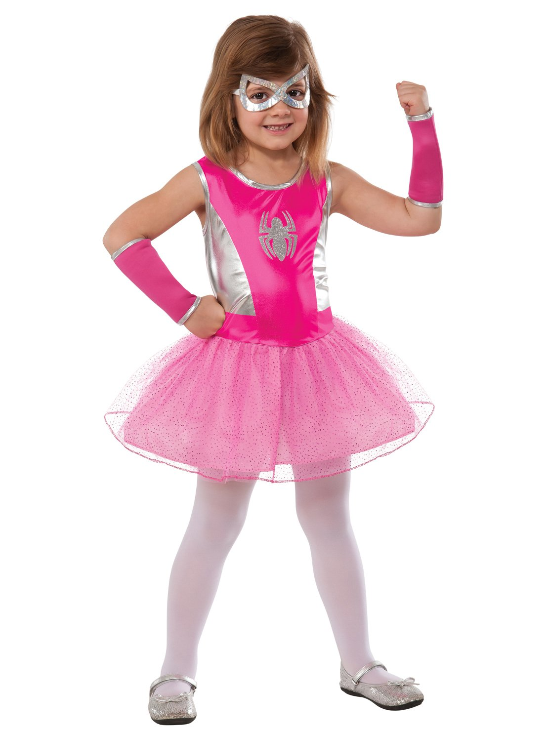 - 71ivuSgmNML - Rubie's Marvel Classic Child's Pink Spider-Girl Costume