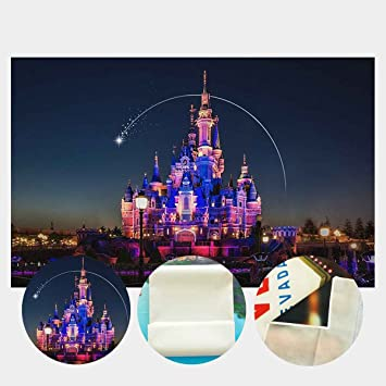 LYLYCTY 7x5ft Castle Backgrounds Interesting Magic World Castle Owl Photography or Movie Fans Children Party Photo Booth Props LYLS1178