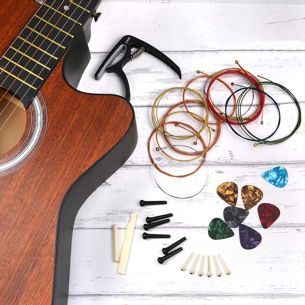 Auihiay - Juego de herramientas para guitarra acústica (46 piezas ...