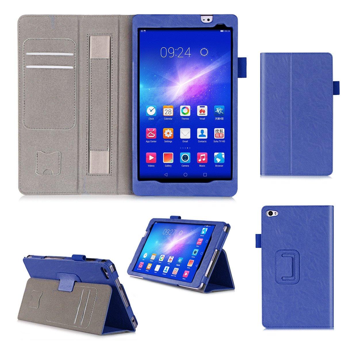 【通販 人気】 Huawei MediaPad M2 M2 8.0インチケース 高級本革ケース スタンド付き フリップカバー 8.0インチ用 ハンドメイド Huawei MediaPad MediaPad M2 8.0インチ用 ブルー B07LCH6QVJ, フォーチュンプラザ:42f94c05 --- a0267596.xsph.ru