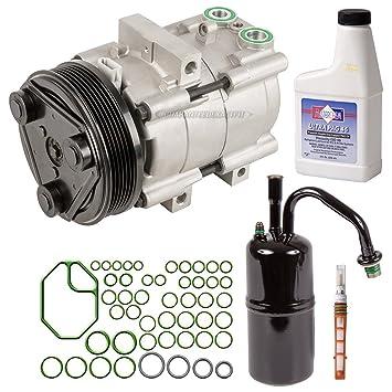 Nueva AC Compresor y embrague con completa a/c Kit de reparación para FORD &