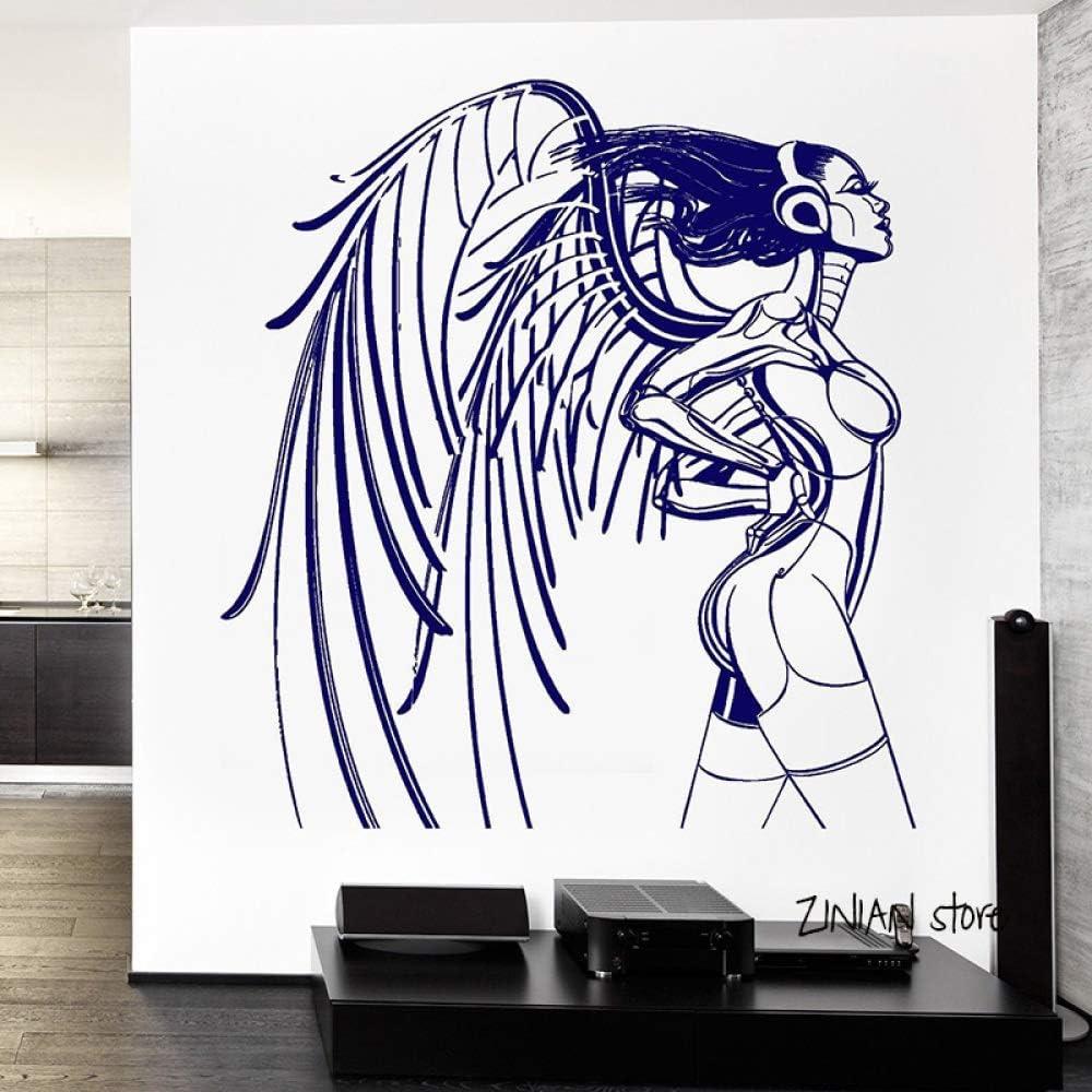 Chica Cyber Caliente calcomanías de Pared ángel Etiqueta de la Pared para el Dormitorio del Adolescente Wallpaper diseño del hogar Mural decoración habitación Gris 42x45 cm: Amazon.es: Hogar