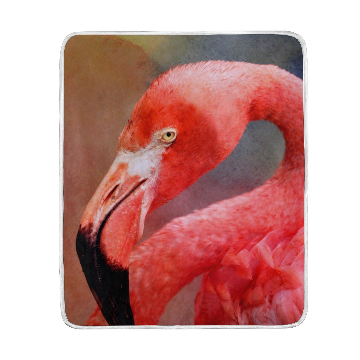 My Little Nest Warm Throw Blanket Beautiful Red Flamingo Lightweight Microfiber Soft Blanket Everyday Use for Bed Couch Sofa 50'' x 60''