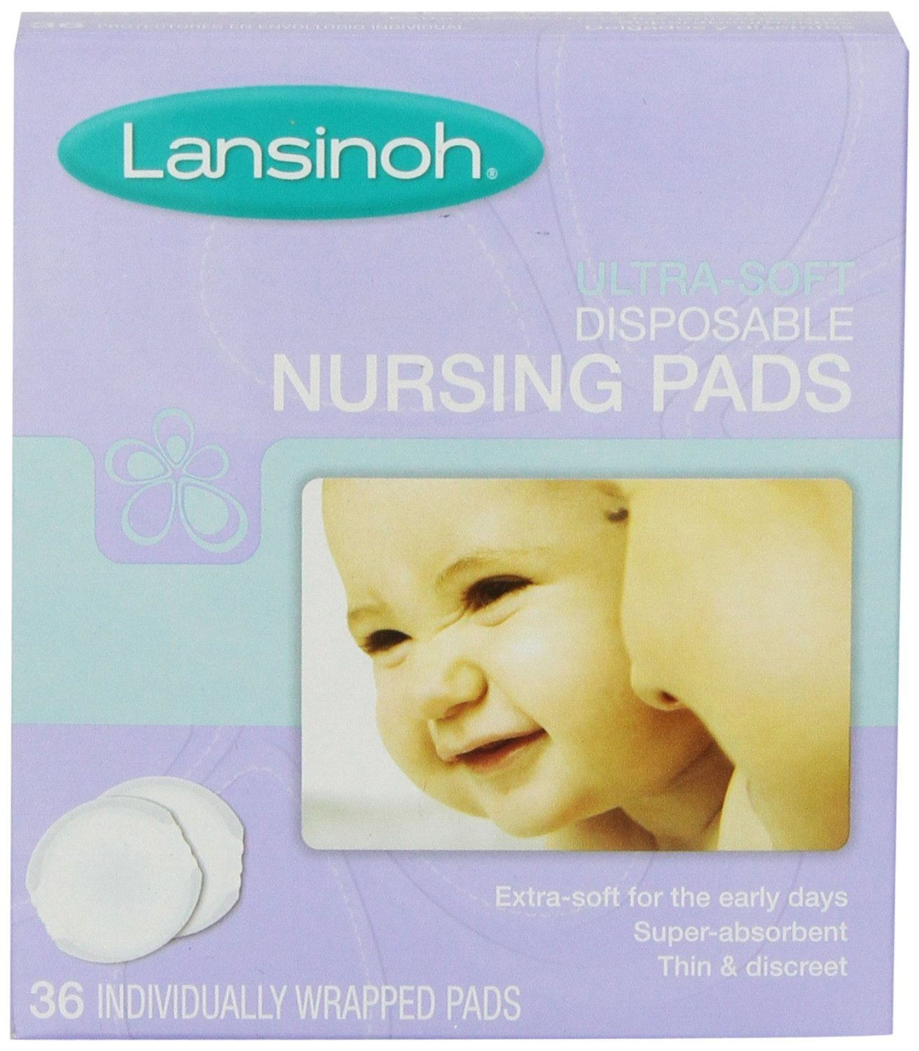 Lansinoh Ultra Soft Nursing Pads, 36 Count (Pack of 8)