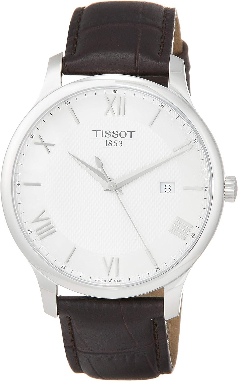 Tissot Tradition - Reloj (Reloj de Pulsera, Masculino, Acero Inoxidable, Acero Inoxidable, Cuero, Marrón)