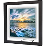 ONE WALL Square Floating Frame 11x11 inch Photos Picture Frame Black Wood Black Wood 8x8 5x5 4x4 Inch Float Frame for Photos
