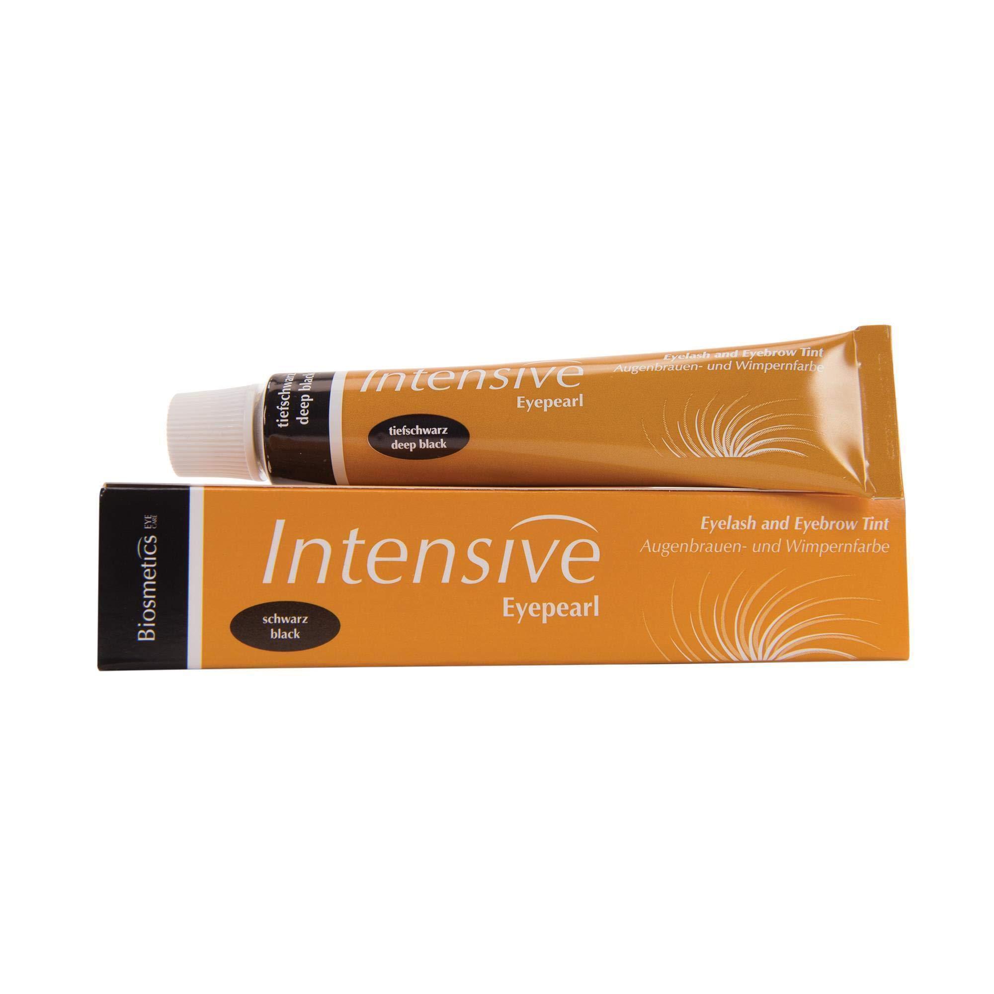 Intensive Lash & Brow Tint, Deep Black   Trusted Professional Formula   0.68 Fluid Ounces