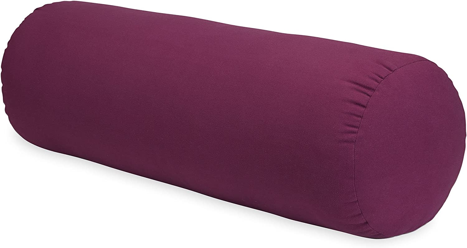 Gaiam Sol Round Yoga Bolster - Supportive Cotton Yoga Pillow for Meditation, Yoga, Pilates & Relaxation