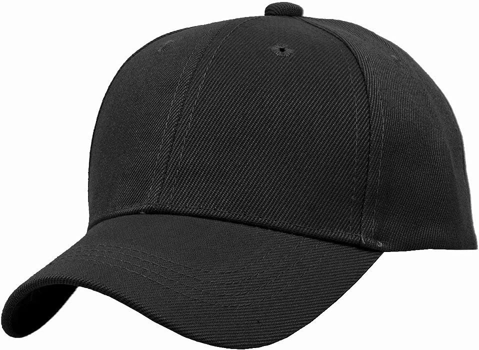 0836e2fe4de TOP HEADWEAR TopHeadwear Blank Kids Youth Baseball Adjustable Hook and Loop  Closure Hat Black