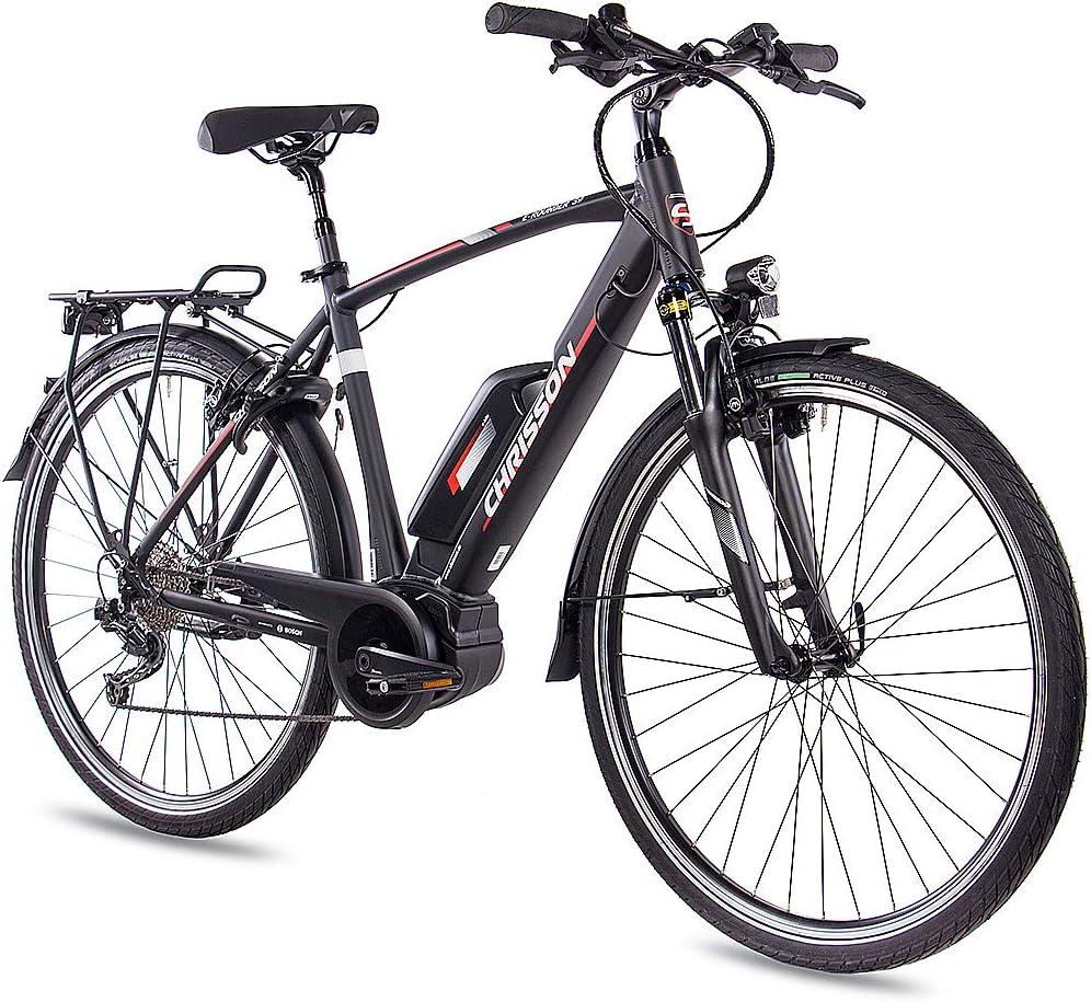 CHRISSON - Bicicleta eléctrica para hombre de 28 pulgadas ...