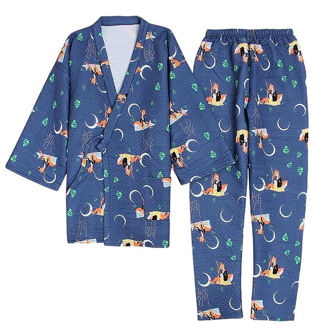 Trajes De Estilo Japonés De Los Hombres De Algodón Kimono ...