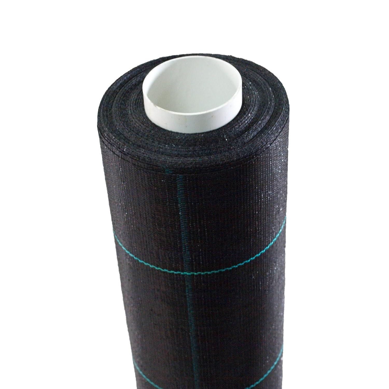 200m² Bodengewebe Unkrautfolie Mulchfolie 100g 1m breit schwarz