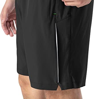 Rdruko Mens Quick Dry Sports Soccer Shorts Lightweight Running Workout Gym Active Shorts with Zipper Pockets