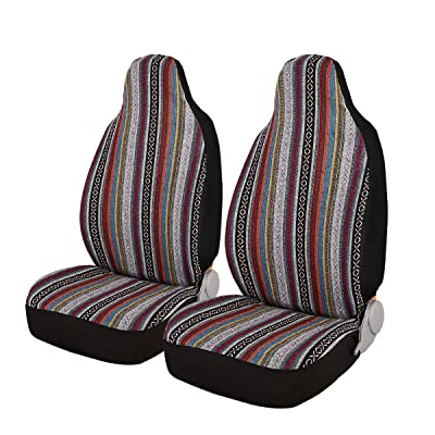AUTOJING Baja Blanket Seat Covers for Car Front Seats-Bucket Saddle Blanket,Universal Size,2 Packs (FR-01): Automotive