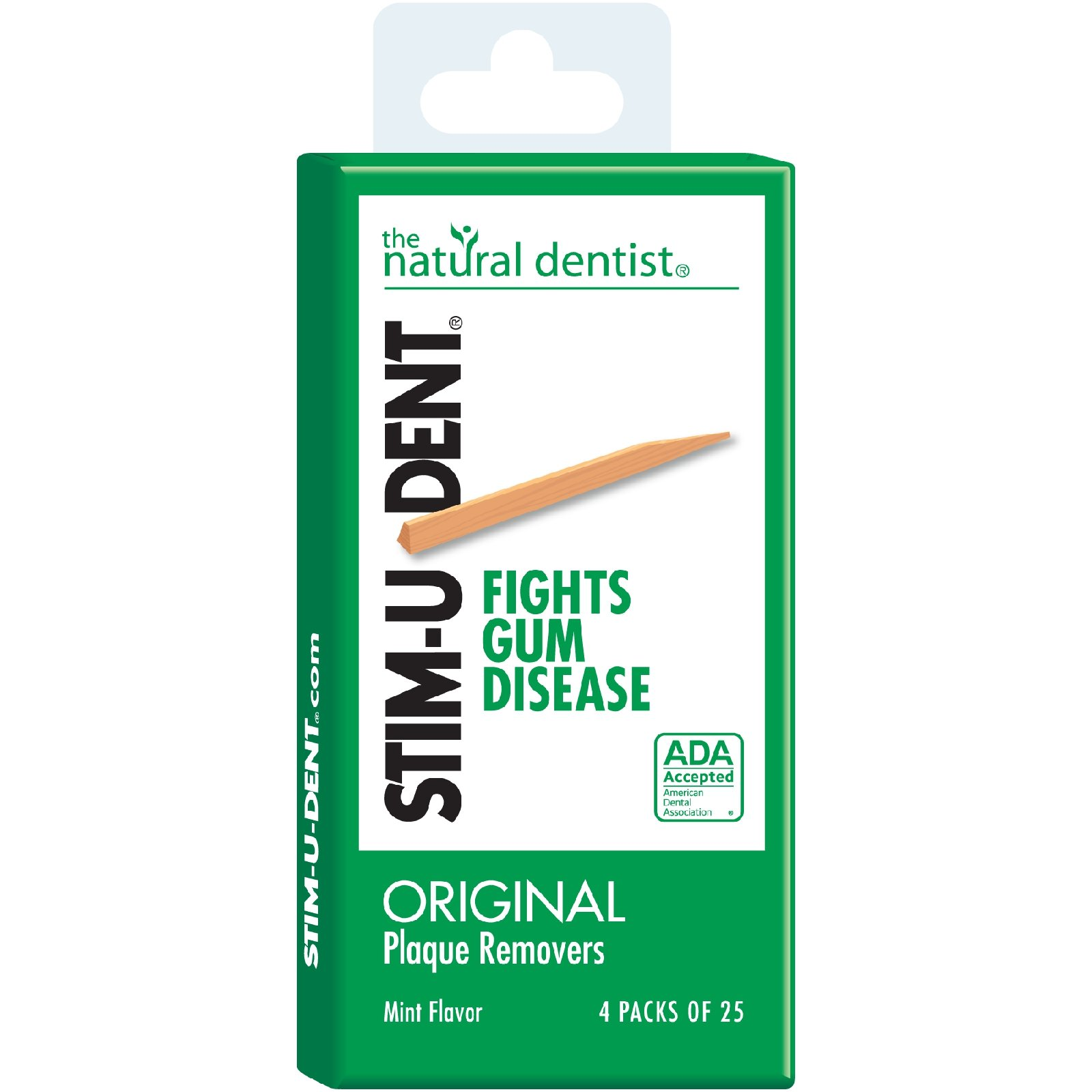 Natural Dentist Stim - U - Dent Original Plaque Removers Mint - 100 Toothpicks - Case of 12