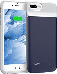 Swaller Upgraded Battery Case for iPhone 8 Plus 7 Plus 6/6s Plus, 5000mAh Slim Charging Case Extend 120% Battery Life, Portable Charger Case Compatible iPhone 8P/7P/6P/6SP (Blue)