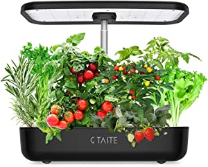 G TASTE Hydroponics Growing System, Indoor Herb Garden Kit Complete with LED Light, Plant Germination Kits 12 Plant Pots for Home Kitchen Garden