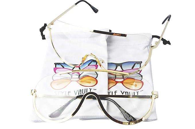 Amazon.com: Gafas de sol A3031 de metal con escudo de ...