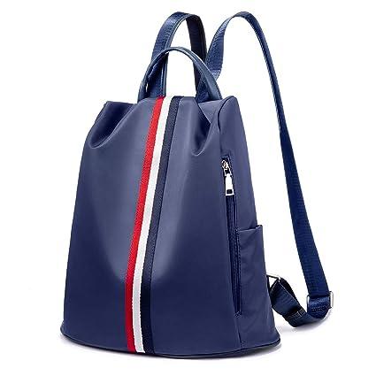 Bolsos mujer Mochilas tipo casual Bolsos bandolera Mochilas y bolsas escolares Women Backpack Waterproof Anti-Theft Daypack- Azul