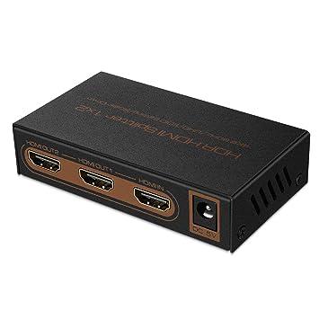 Ultra HD UHD 4Kx2K @ 60Hz // 30Hz Supports 4K 60Hz 3D HDCP 2.2 TNP HDMI Splitter 4K 1 in 2 out HDR High-Speed HDMI Video Audio 1x2 Distribution Split Box Full HD 1080P
