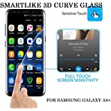 Samsung Galaxy A8+ / Samsung Galaxy A8 +(2018) / Samsung Galaxy A8 PLUS 5d TRANSPARENT GLASS Tempered Glass 100% shatterproof Best Quality Screen Protector Super tough ultra clear Scratch Proof Bubble Free Original Touch Feeling 9H Hardness Explosion-proof Extra Sensitive Transparent Glass By SMARTLIKE