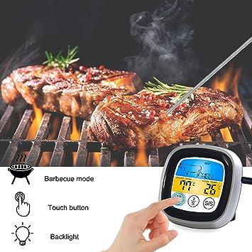 Comida que cocina el termómetro inalámbrico del Bbq de ...