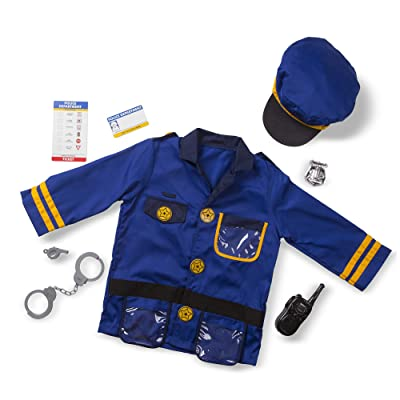 Melissa and & Doug Police Officer Role Play Costume Set IGN: Clothing