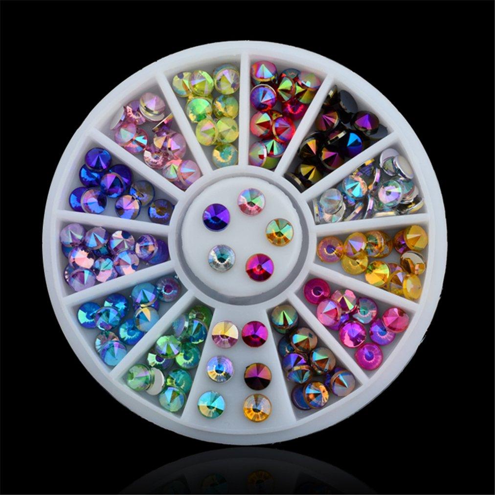 JasCherry Pedrería para Uñas Decoración de Arte de Uñas Rueda de Diamantes Brillantes