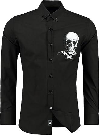 Black Rock Camisa Casual - con Botones - Manga Larga - Para Hombre Negro Negro: Amazon.es: Ropa y accesorios