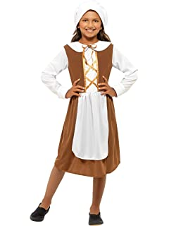 Tudor Girls Fancy Dress Historical Kids World Book Day Week Medieval Costume New
